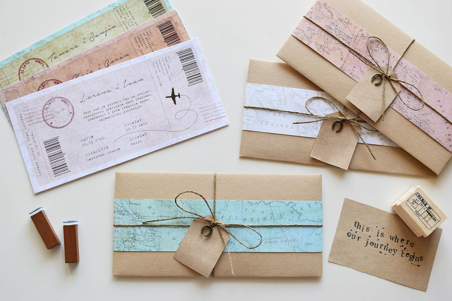 Journey to remember | Rustic Wedding Invitation, White, Travel ...