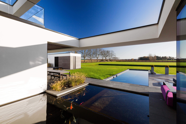 Blockoffice architecten villa te rummen strakke architectuur