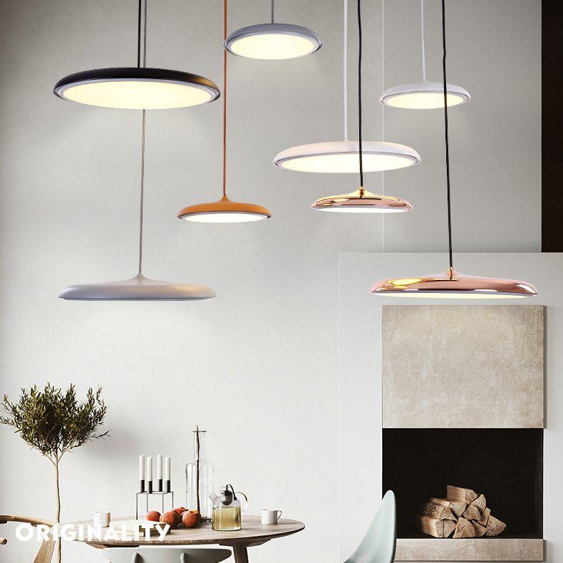 Led Hanging Light Flying Saucer Ultrathin Inspired By Nordlux Dining Room Pendant Hanging Lights Pendant Light Fixtures