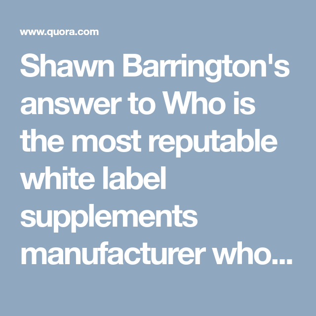 Shawn Barrington's answer to Who is the most reputable white