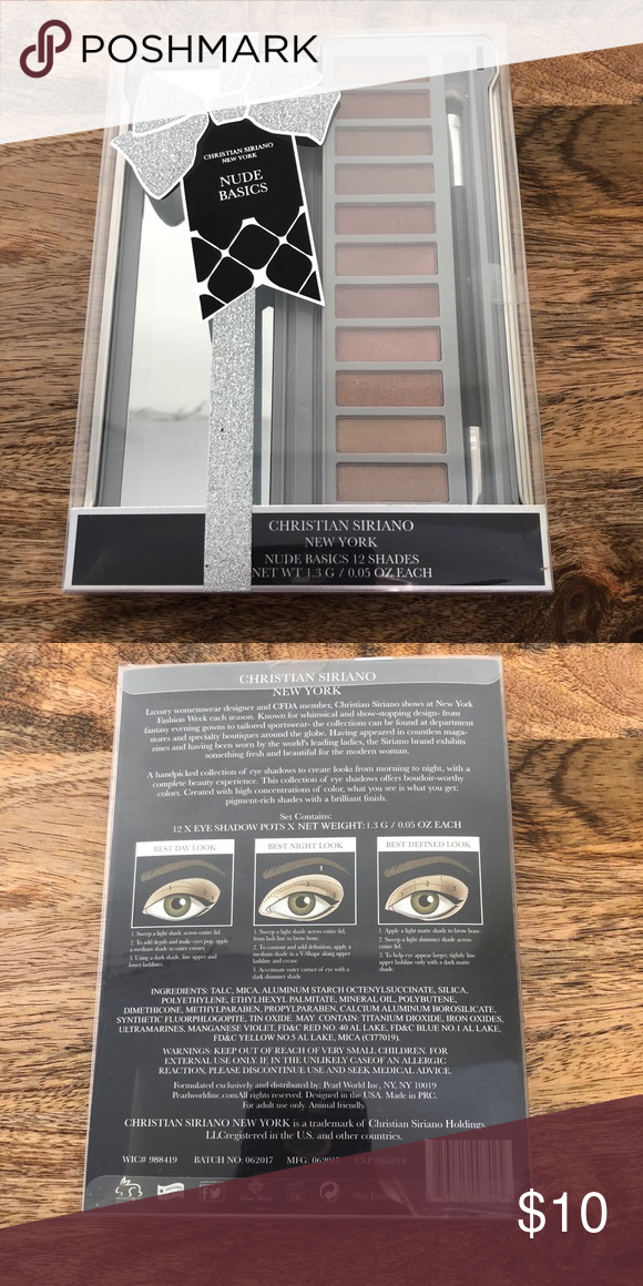 d692a668fc31 Christian Siriano nude basics eyeshadow pallet NWT sealed never used ...