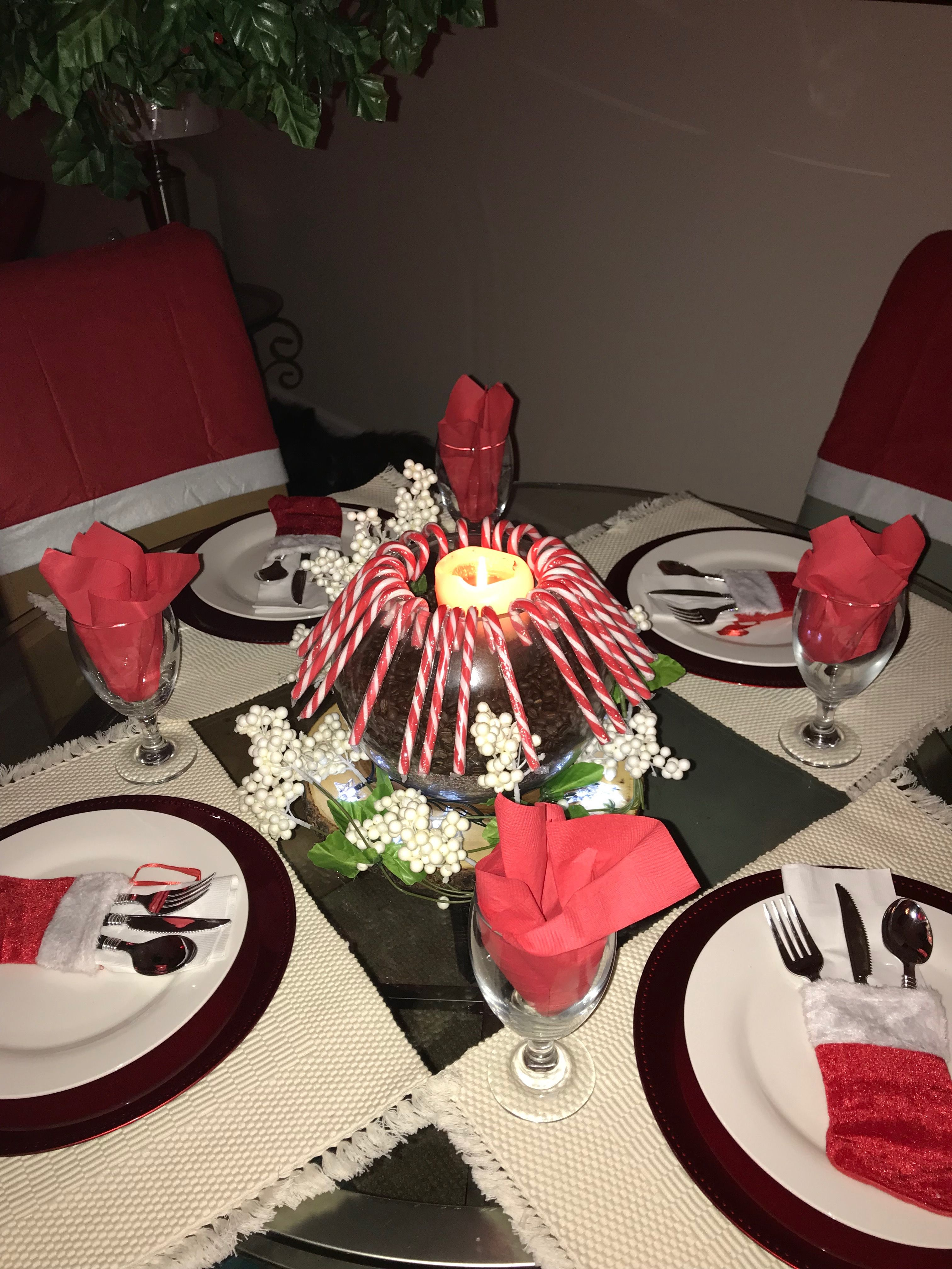 My Christmas Table Deco all from Dollar Tree for just