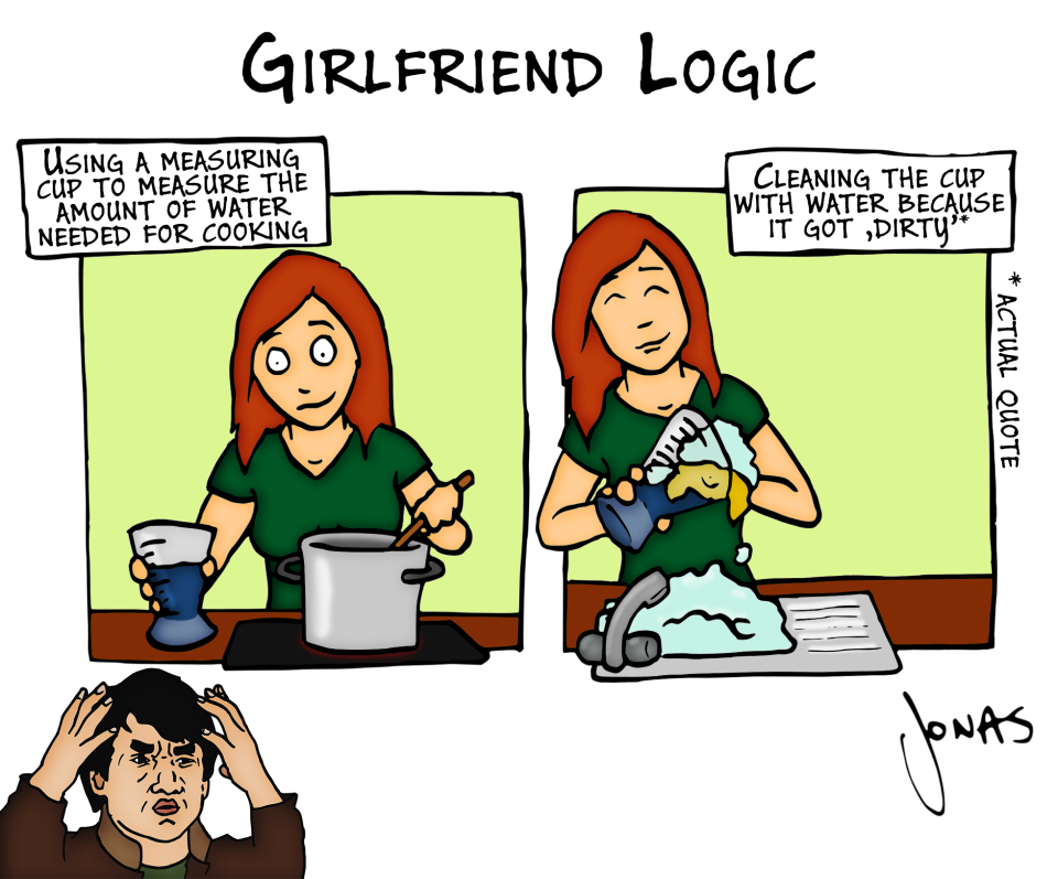 GirlFriend Logic for CLEAning A cUP!!!! Girlfriends