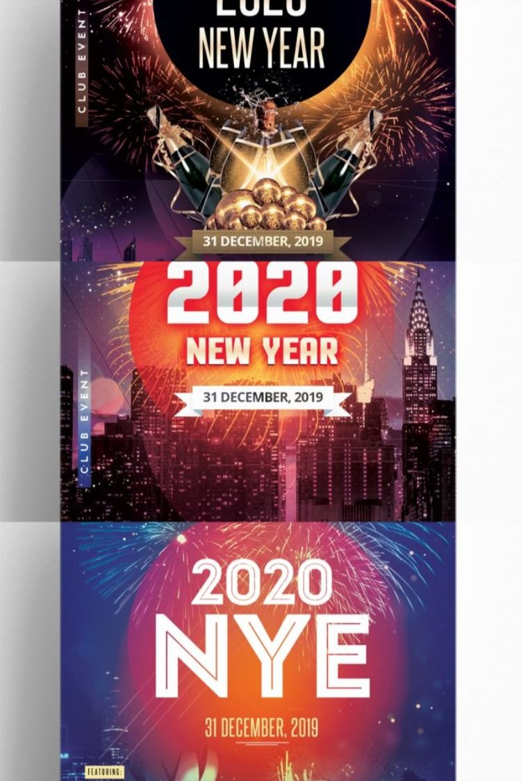 3 New Year Eve Flyers (With images) New year's eve flyer