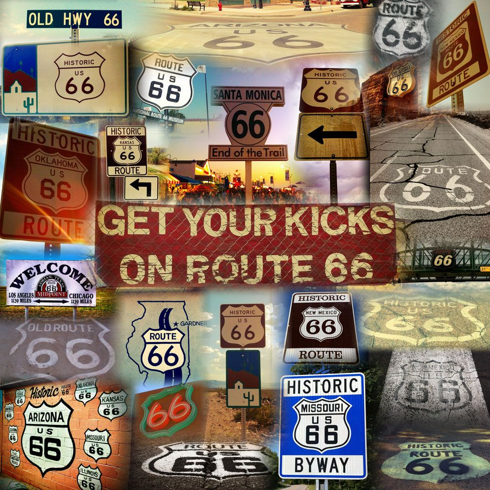 Route 66 MapRoute A Discover Our Shared Heritage Travel Itinerary