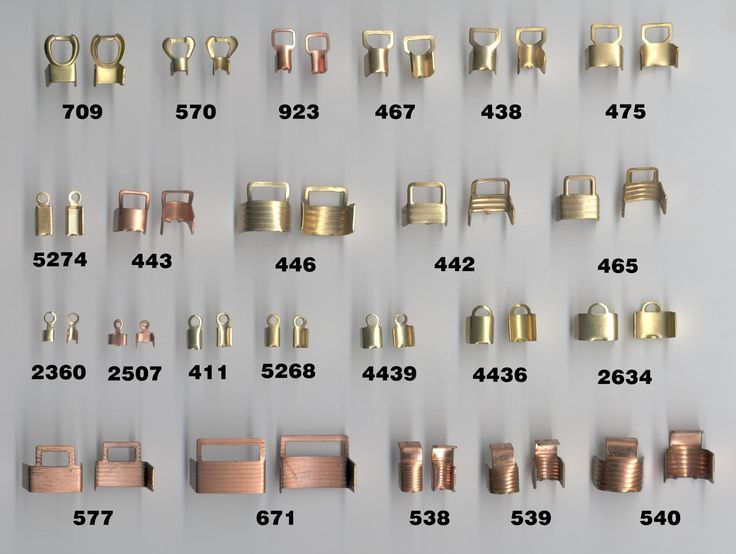 Photo of Bead tips / crimp ends – different styles and uses. #crimp #en …