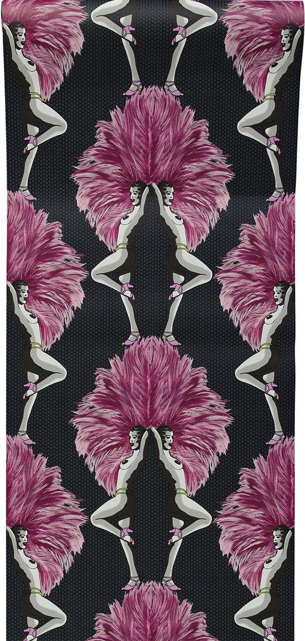 Showgirls Wallpaper Pink Grey In 2020 Pink Wallpaper Unique