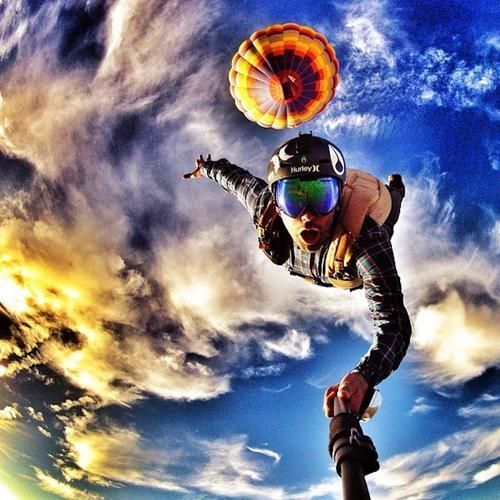 Sky Diving Extreme Sports Base Jumping Skydiving