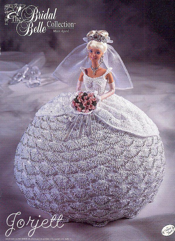 April, Annie\'s Bridal Belle Collection crochet patterns fit Barbie ...