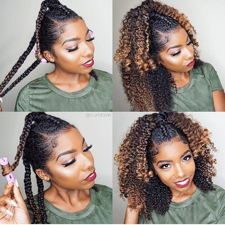 Curldaze Braidout With This Half Up Half Down Look Is Fire Hair Styles Natural Hair Styles Curly Hair Styles