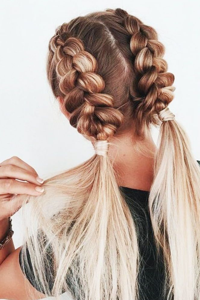 How To Pull Through Braid Easy Braid Hairstyle Braided Hairstyles Easy Medium Hair Styles Cute Braided Hairstyles