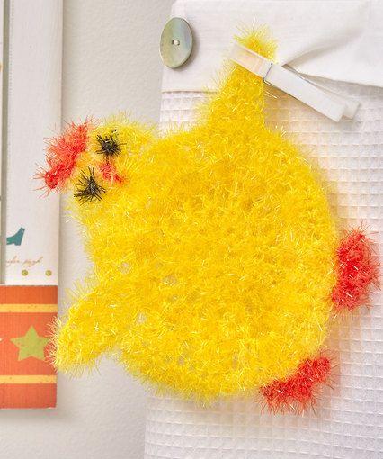 Cute Chickie Scrubby | crochet & knitting | Pinterest | Spülschwamm ...