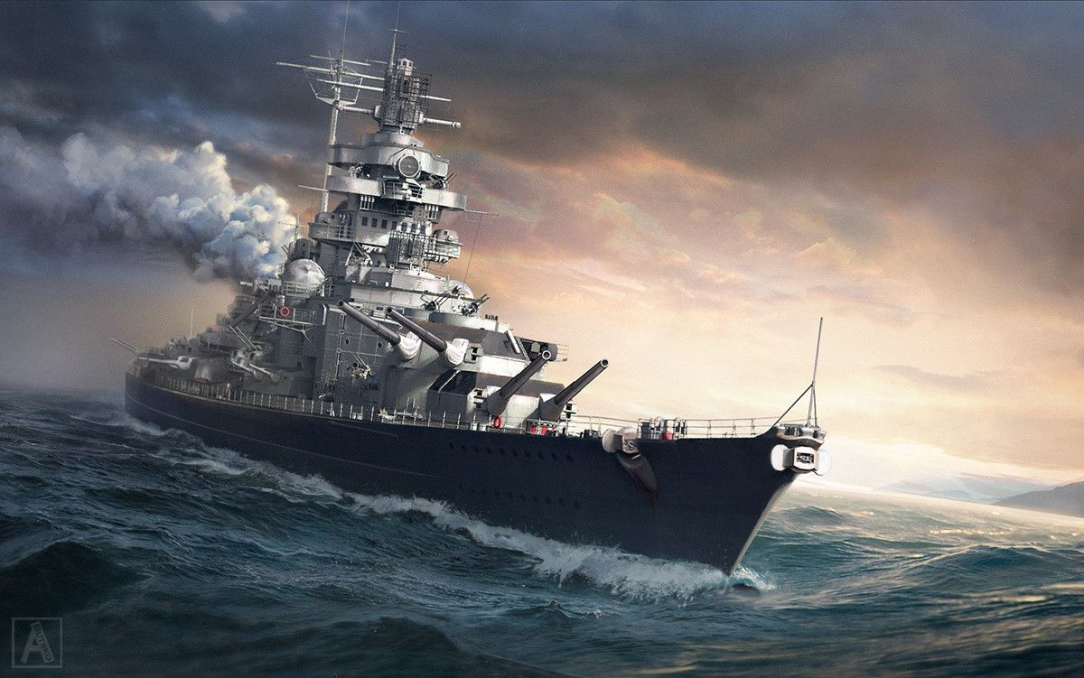 Tirpitz By Anton Butsko With Images World Of Warships