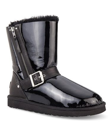 88f526e48af Take a look at this Black Blaise Patent Boot - Women by UGG ...