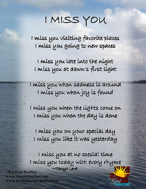 I Miss You Poems | tools for finding hope along the journey ...