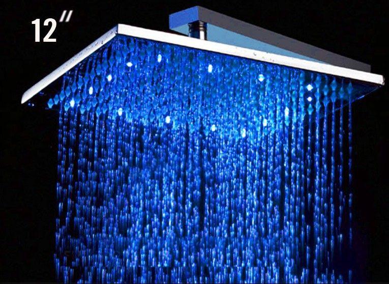 Alfi Brand Led5008 Rain Shower Head With Led Lights Rain Shower