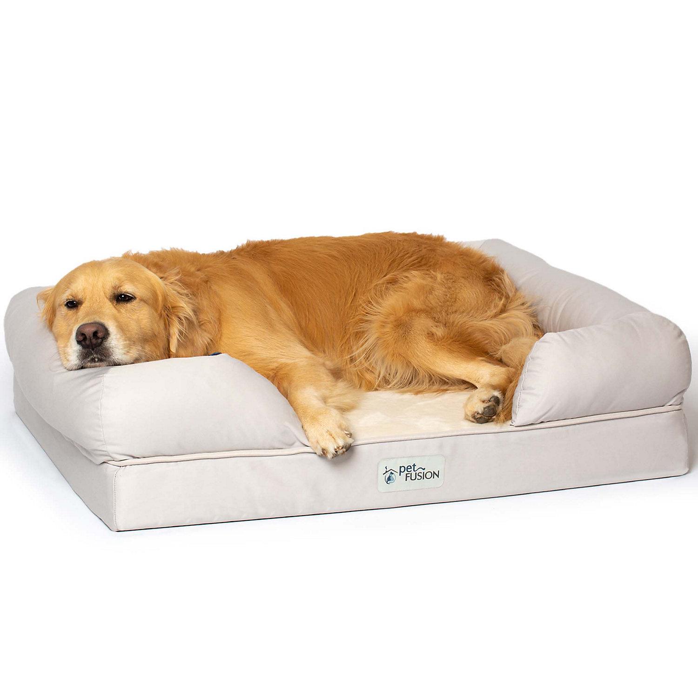 Petfusion Ultimate Sandstone Orthopedic Memory Foam Dog Bed