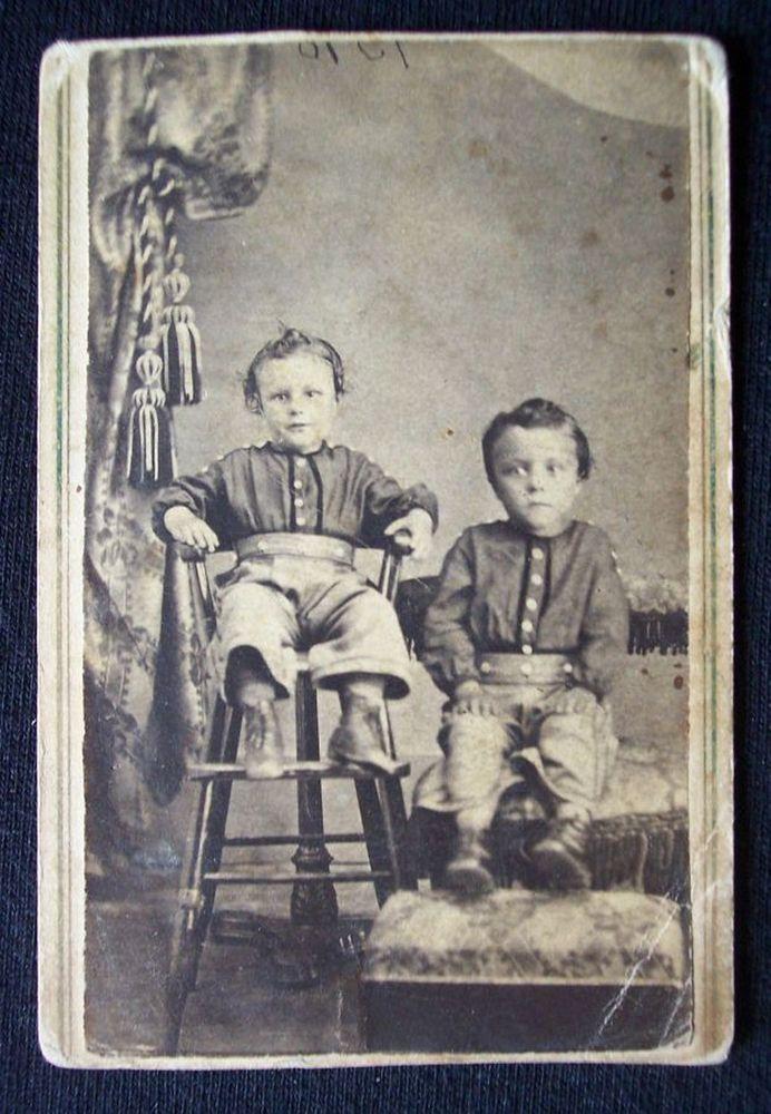 1860s American Civil War era CDV photograph & tax stamp Minerva Ohio