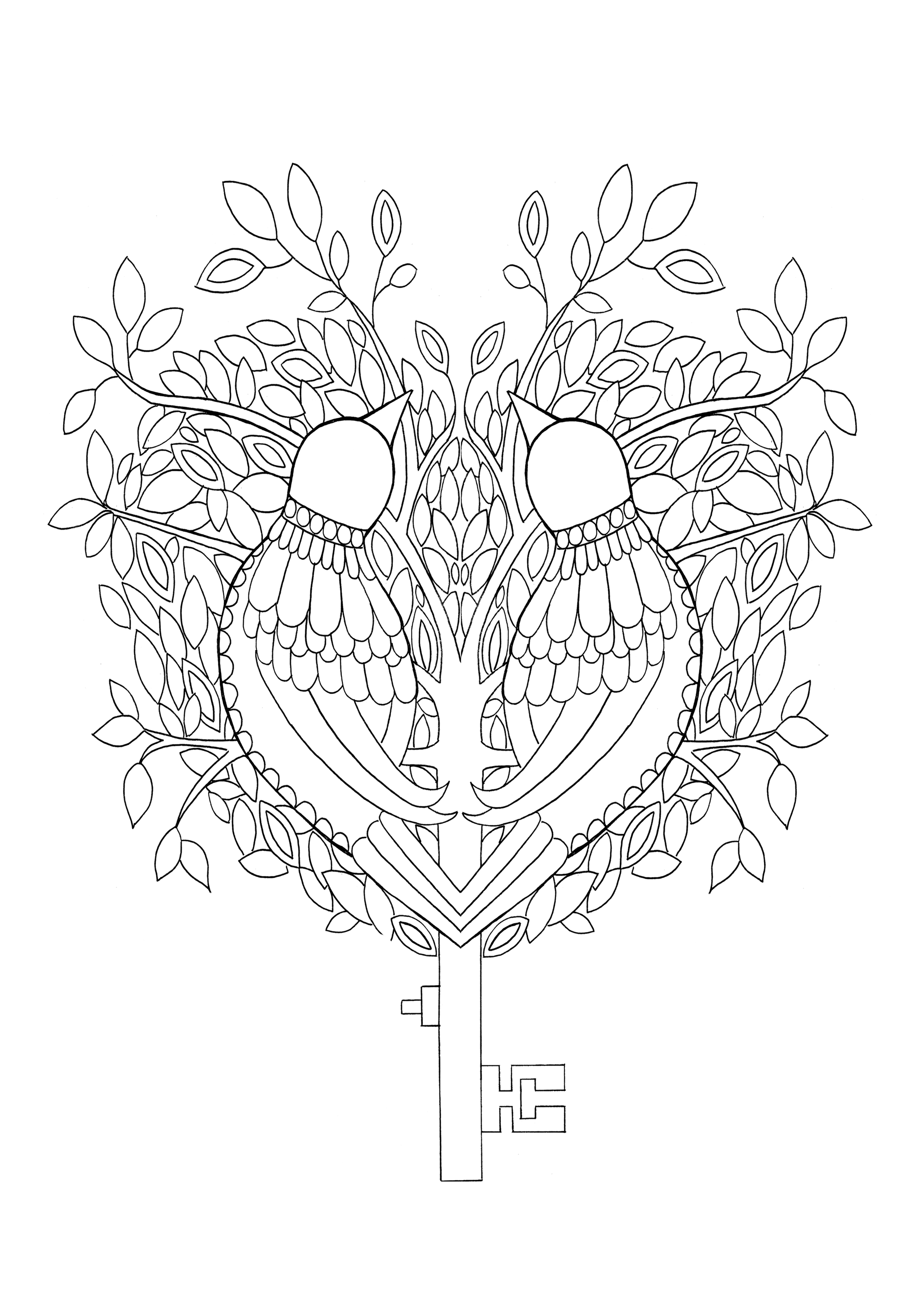 this key is a page out of my colouring book wings and things which ...