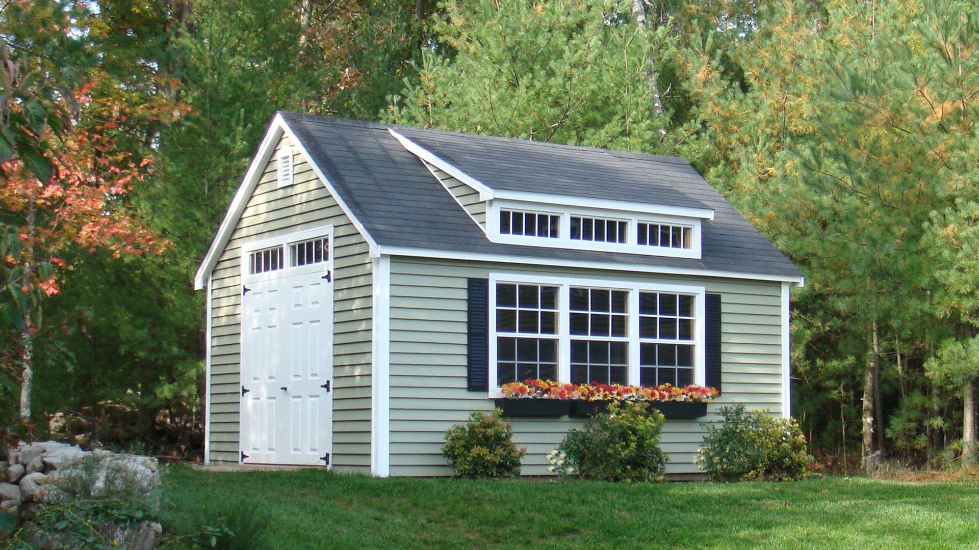 Dormer costs modernize house exterior pinterest for Shed with dormer