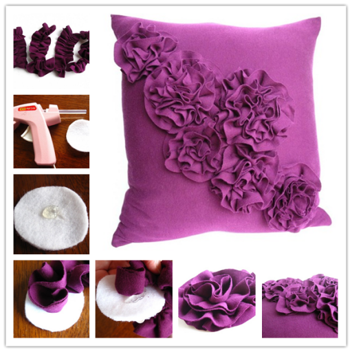 DIY : make beautiful rosette pillow