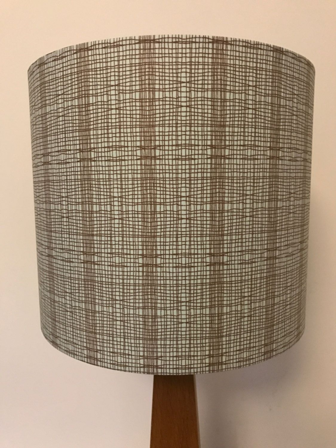 Duck egg blue lamp shade with brown line pattern by lightfromshade duck egg blue lamp shade with brown line pattern by lightfromshade on etsy aloadofball Choice Image