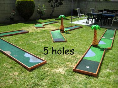 Putt 2 Go Portable Miniature Golf Golf Party Theme