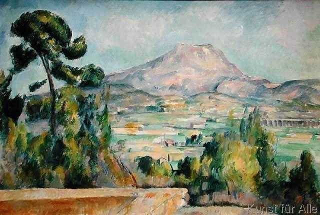 Paul Cézanne - Montagne Sainte-Victoire, c.1887-90