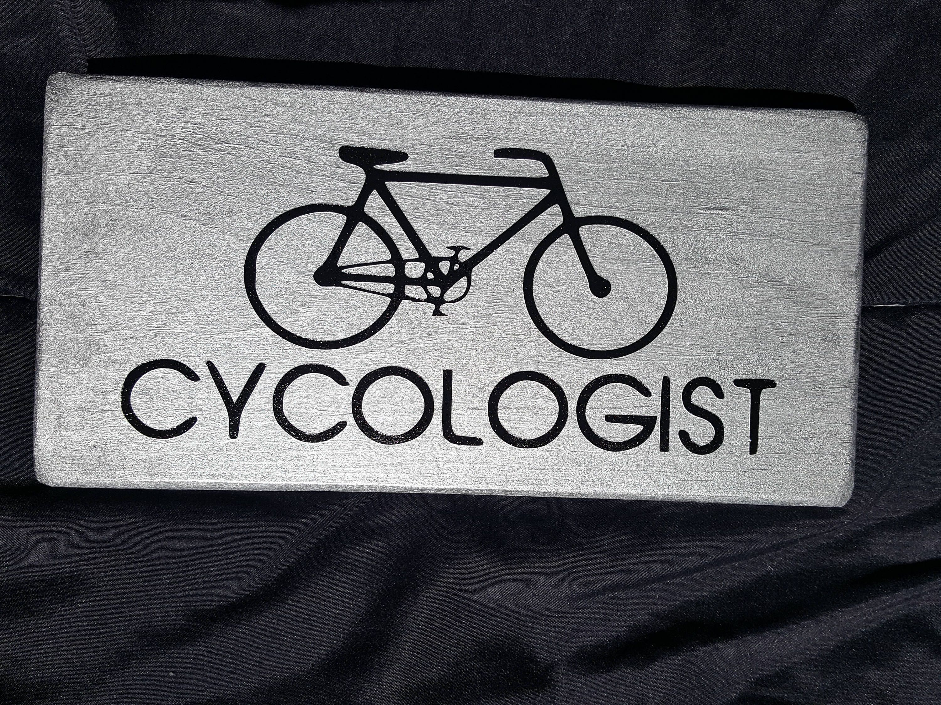 Wooden Bike Sign Bicycle Gift Wooden Sign Cyclist Gift Bike