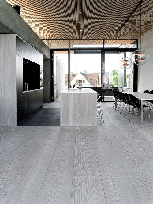 Whitegrey Washed Modern Timber Flooringkitchen By Dinesen