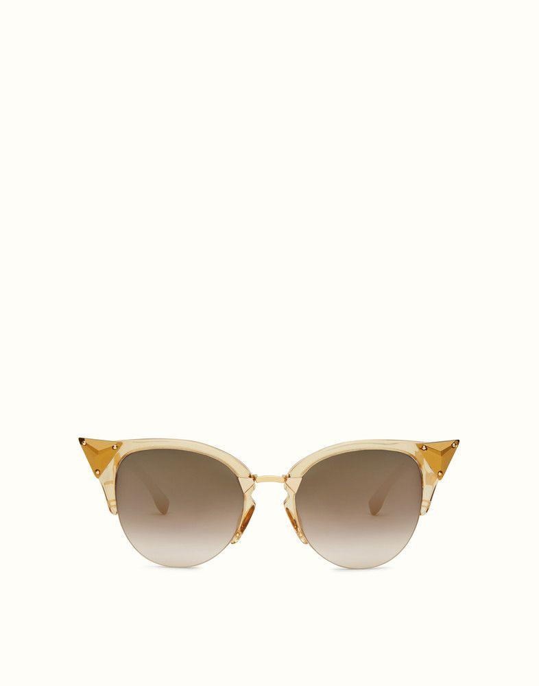 3cf0cc09669b FENDI IRIDIA - Gold-colored sunglasses - view 1 detail