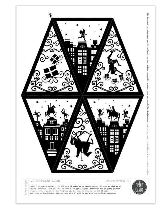Sint Printable Vlaggetjes - Gratis printables van #sintenpiet