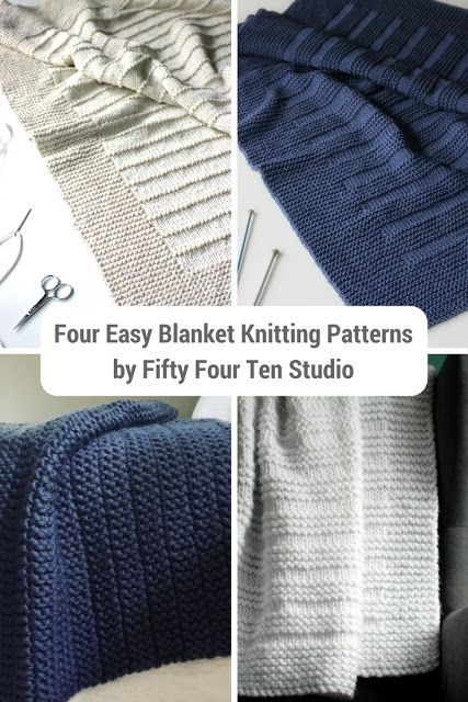 Four Easy Blanket Knitting Patterns Pinterest Knit Patterns