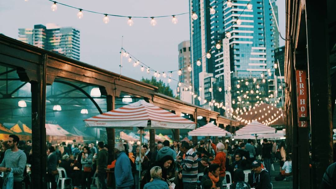 The Queen Victoria Night Market on a warm summers night Re-post by Hold With Hope