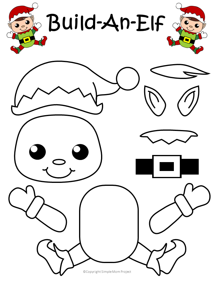 Click And Print This Easy To Make Elf Template For Kids Of All Ages Including Preschoolers And Toddlers G Elf Crafts Christmas Craft Show Preschool Christmas
