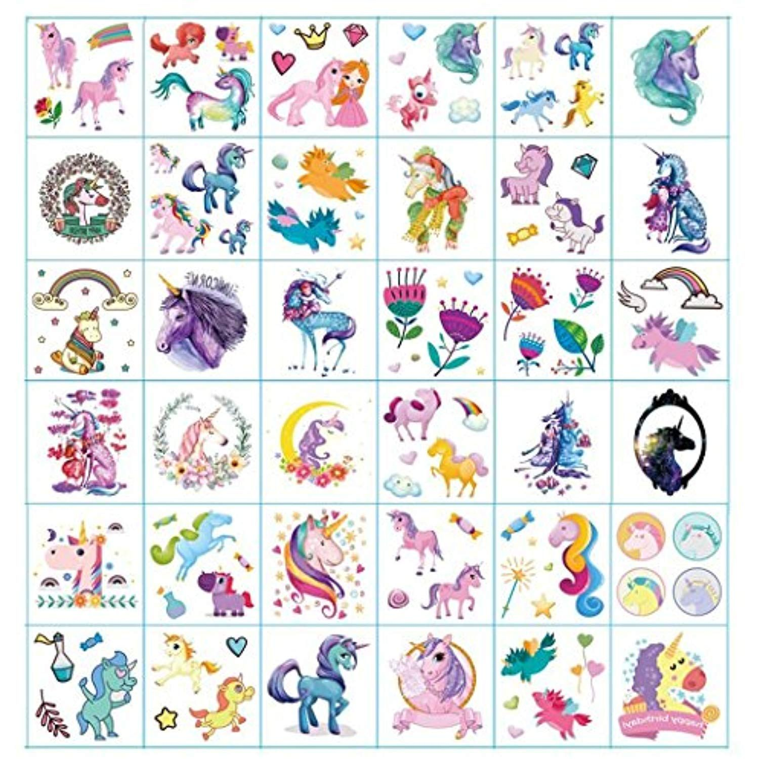 Dream Loom Temporary Tattoos for Kids Birthday Party , Unicorn Party ...