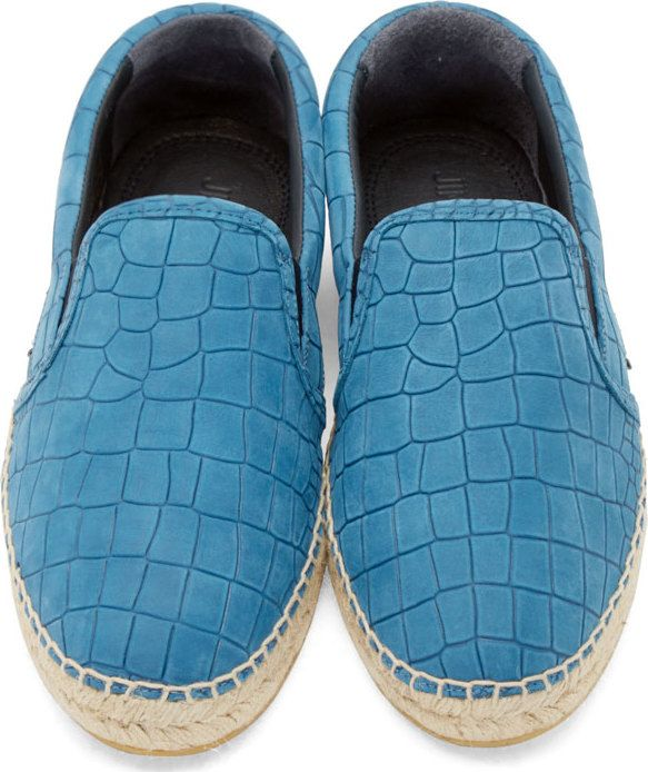c1a06f6a9c5b Jimmy Choo Blue Croc Embossed Vlad Espadrilles