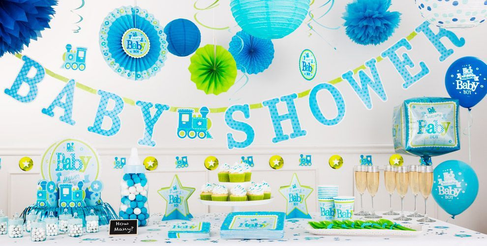 Welcome Baby Boy Baby Shower Decorations Party City Boy Baby