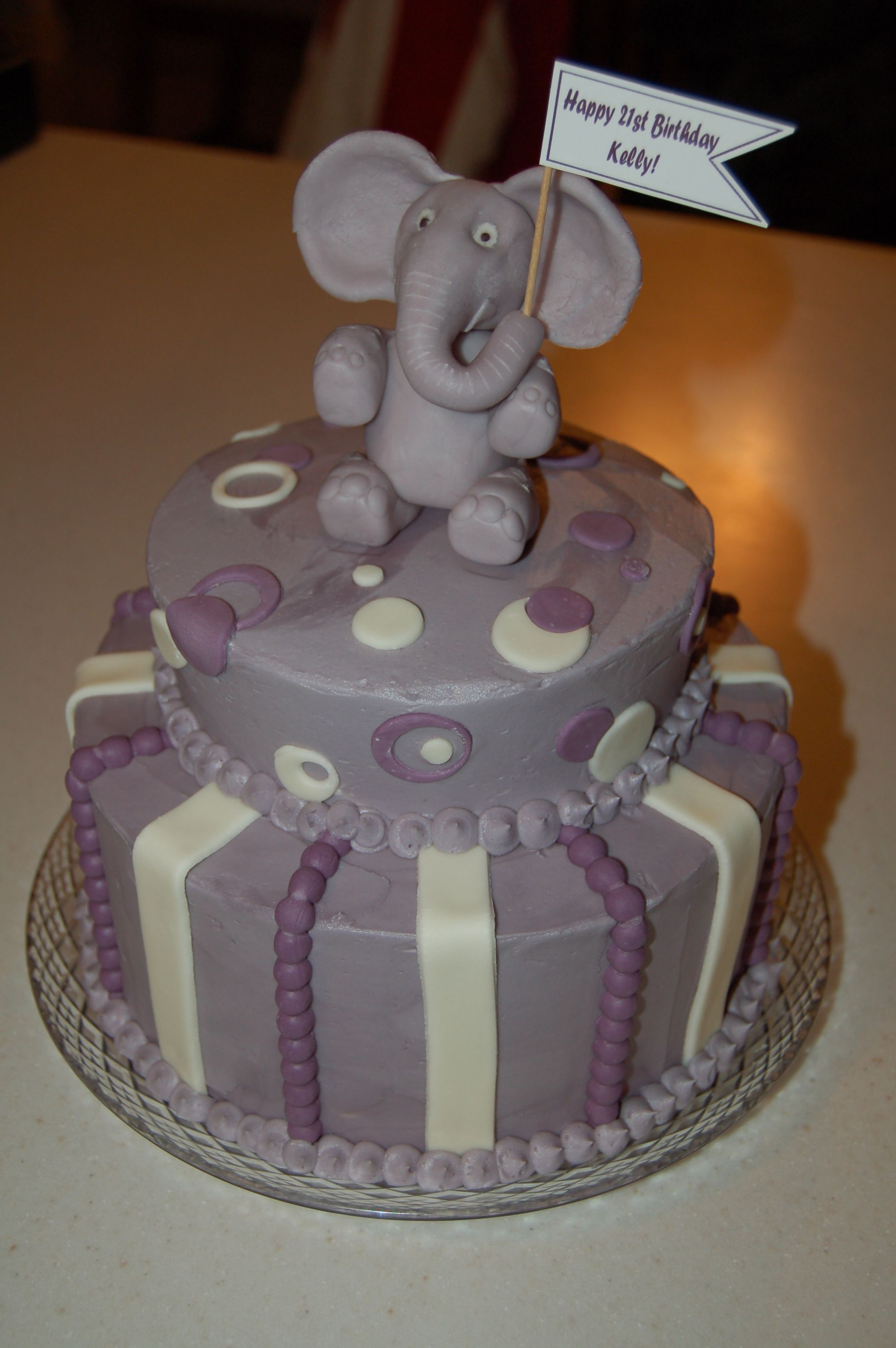 elephant birthday cake purple Cakes Ive Made Pinterest