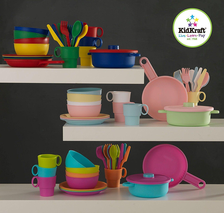 KidKraft - 27-teiliges pastellfarbenes Küchen-Spielset | 27 Teile ...