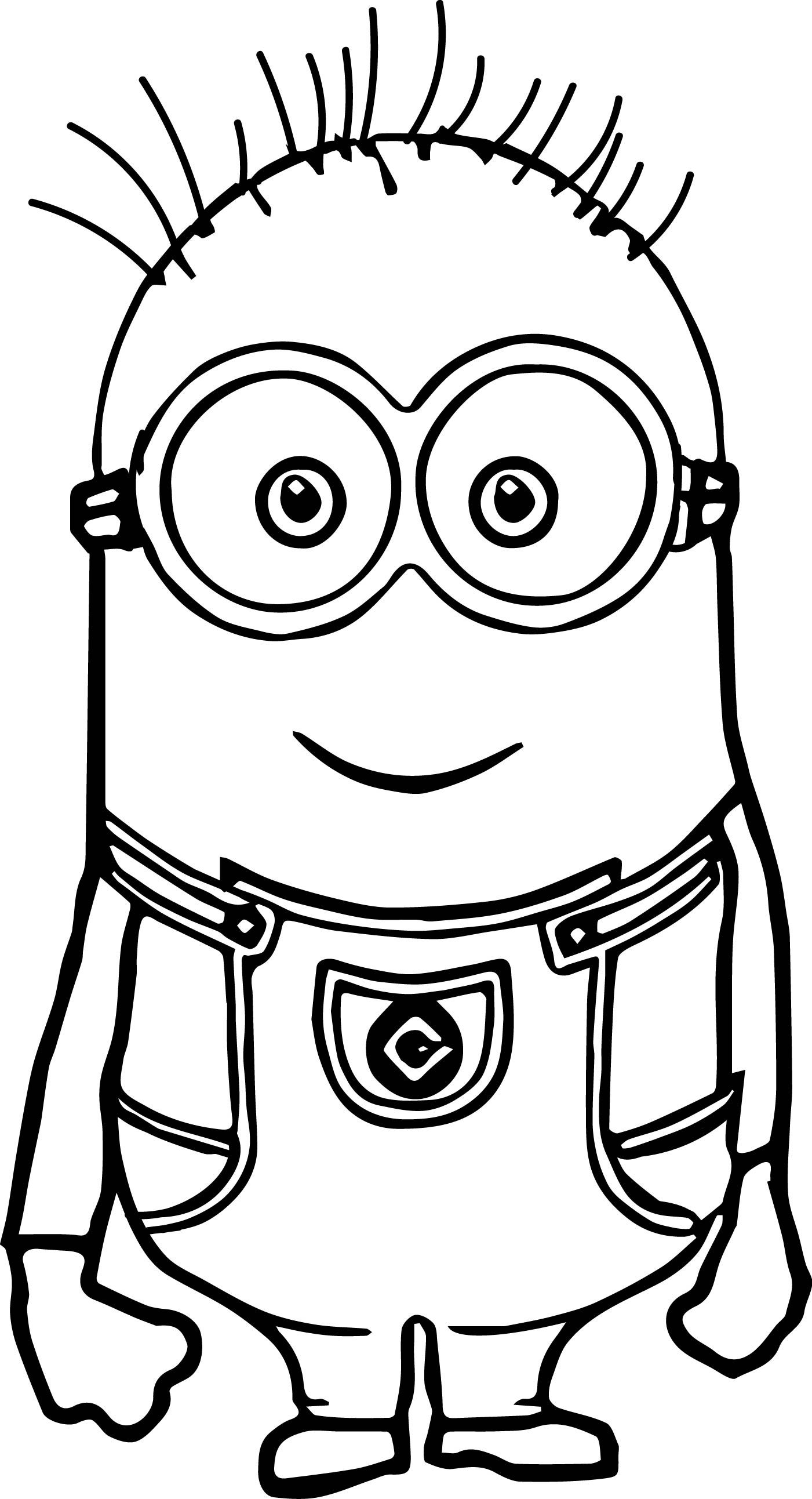 Cute Basic Minion Coloring Page | Wecoloringpage.com ...