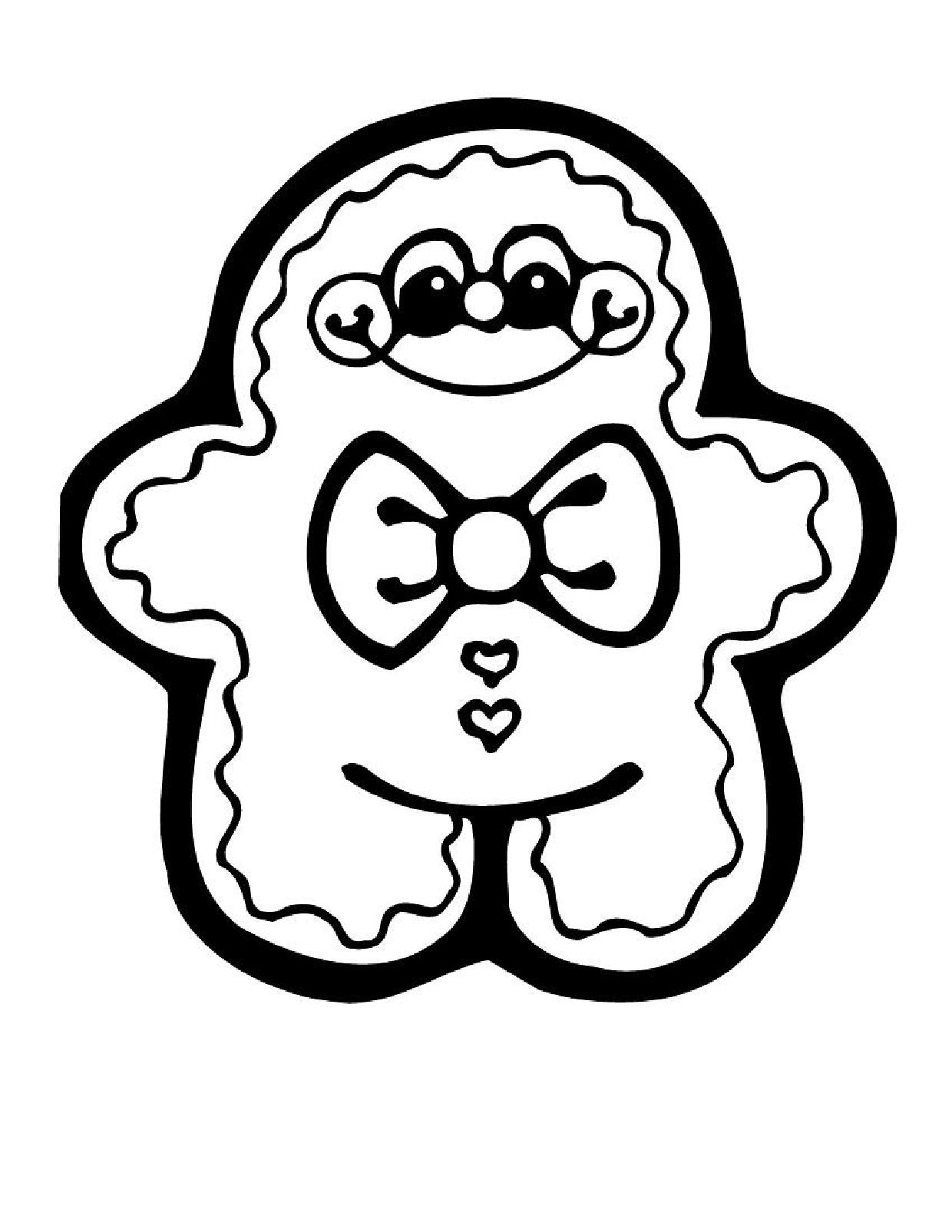 Christmas Coloring Pages Printable Winter Download Free For Gingerbread Man