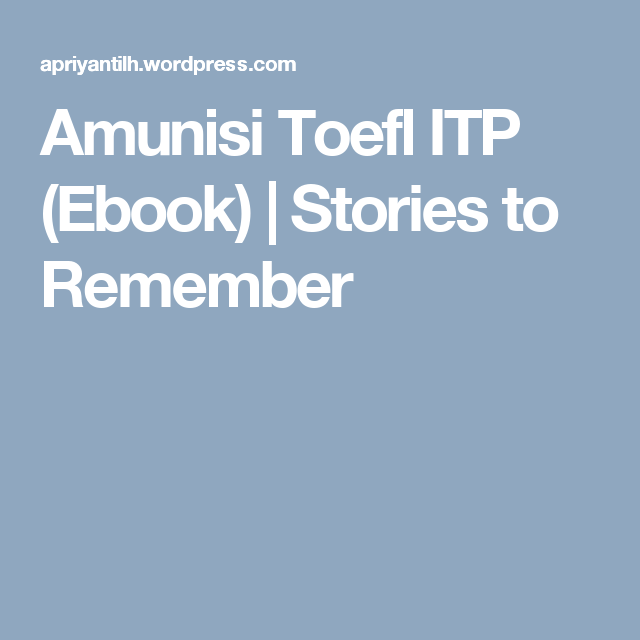 TOEFL TEST EBOOK STORIES EPUB