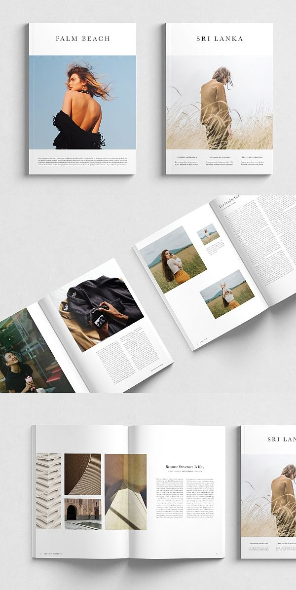 InDesign Magazine Templates (Duo Pack) #magazine #brochure #template #brochuretemplate #brochuredesign #layout #layoutdesign #editorial #indesign #templates #editoriallayout
