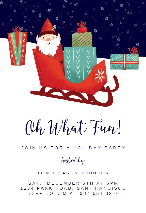 Sleigh Ride Christmas Invitation Template Greetings Island Christmas Invitations Template Christmas Party Invitations Printable Christmas Birthday Invitations