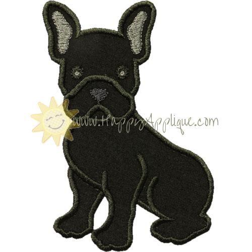 French Bulldog Applique Design French Bulldog Applique Designs
