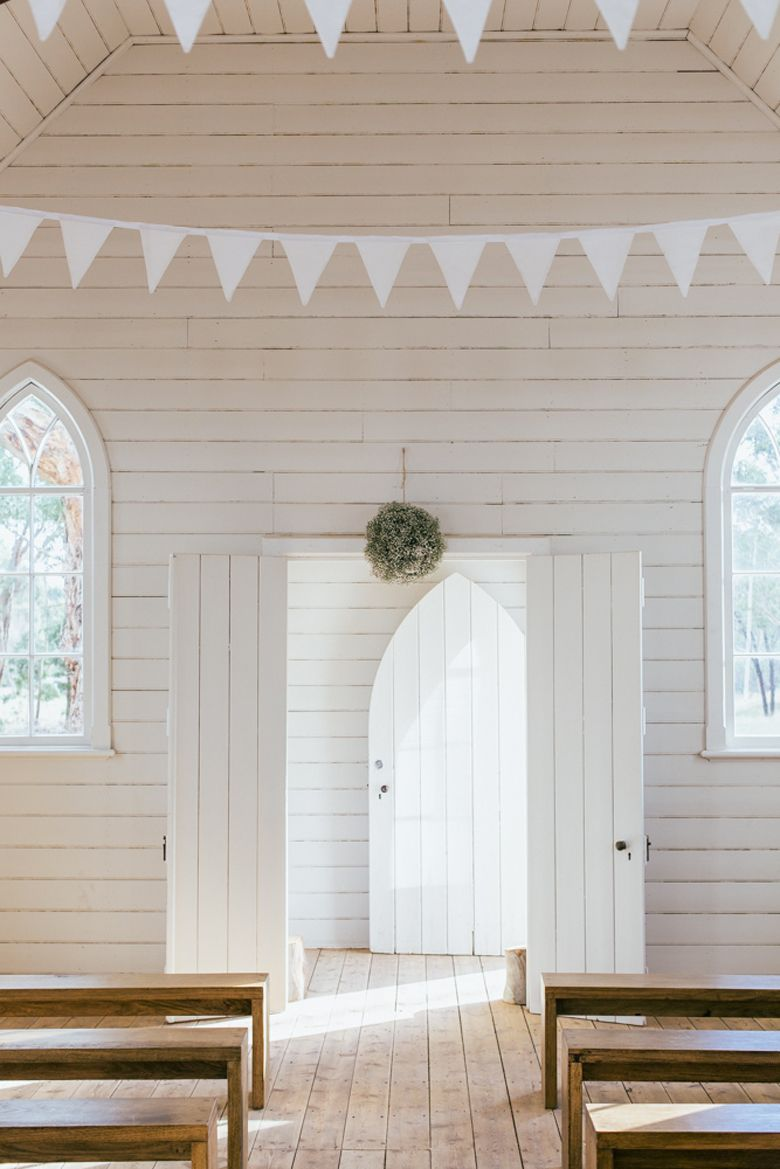 All white church wedding decor Live in Montreal L ooking for vintage rentals and handmade items to