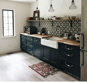 Best Lovely Feature Wall For An Eclectic Kitchen The Dark 400 x 300