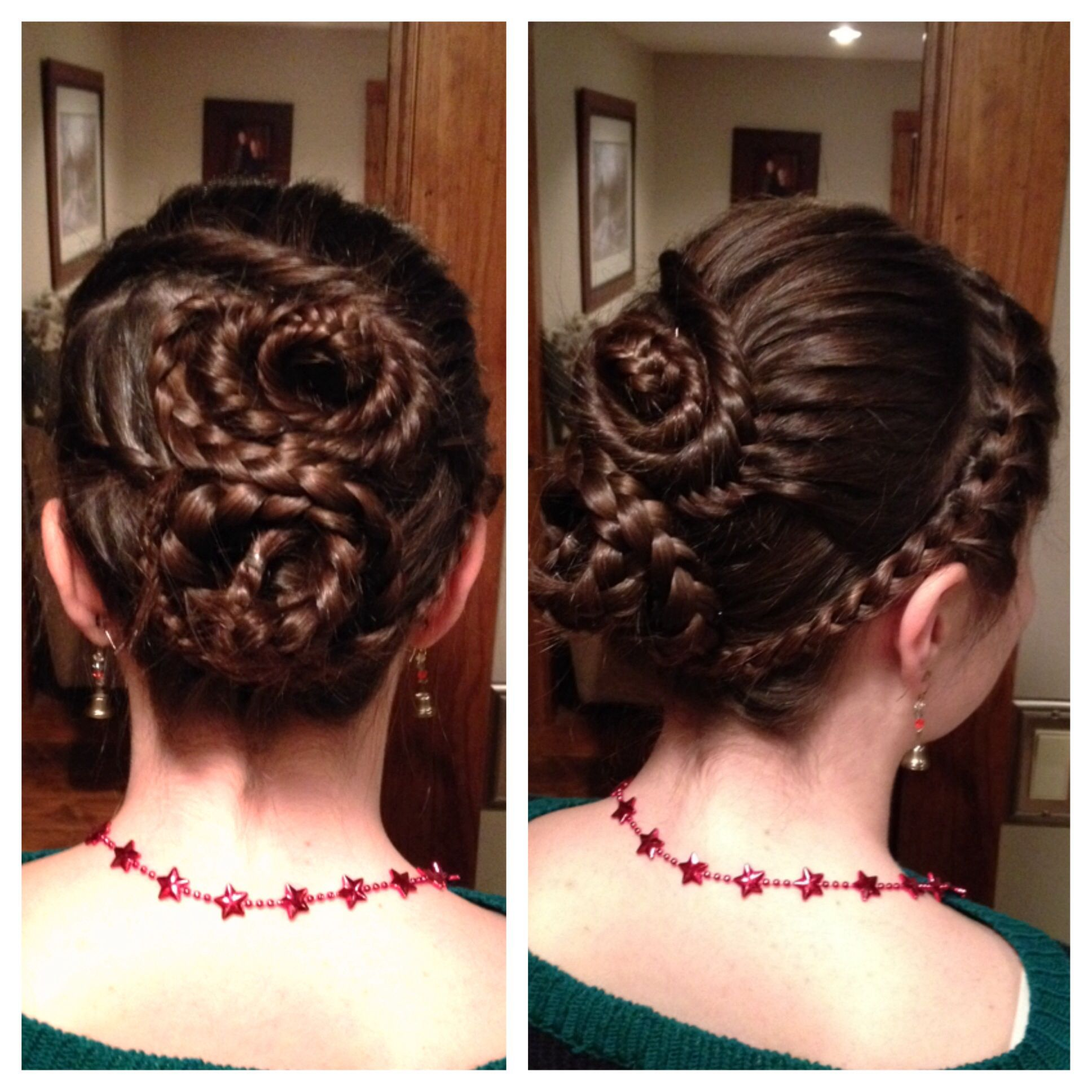Intricate Wedding Hair Up Do: Intricate But Easy Updo. Lace Braids: Fishtail And