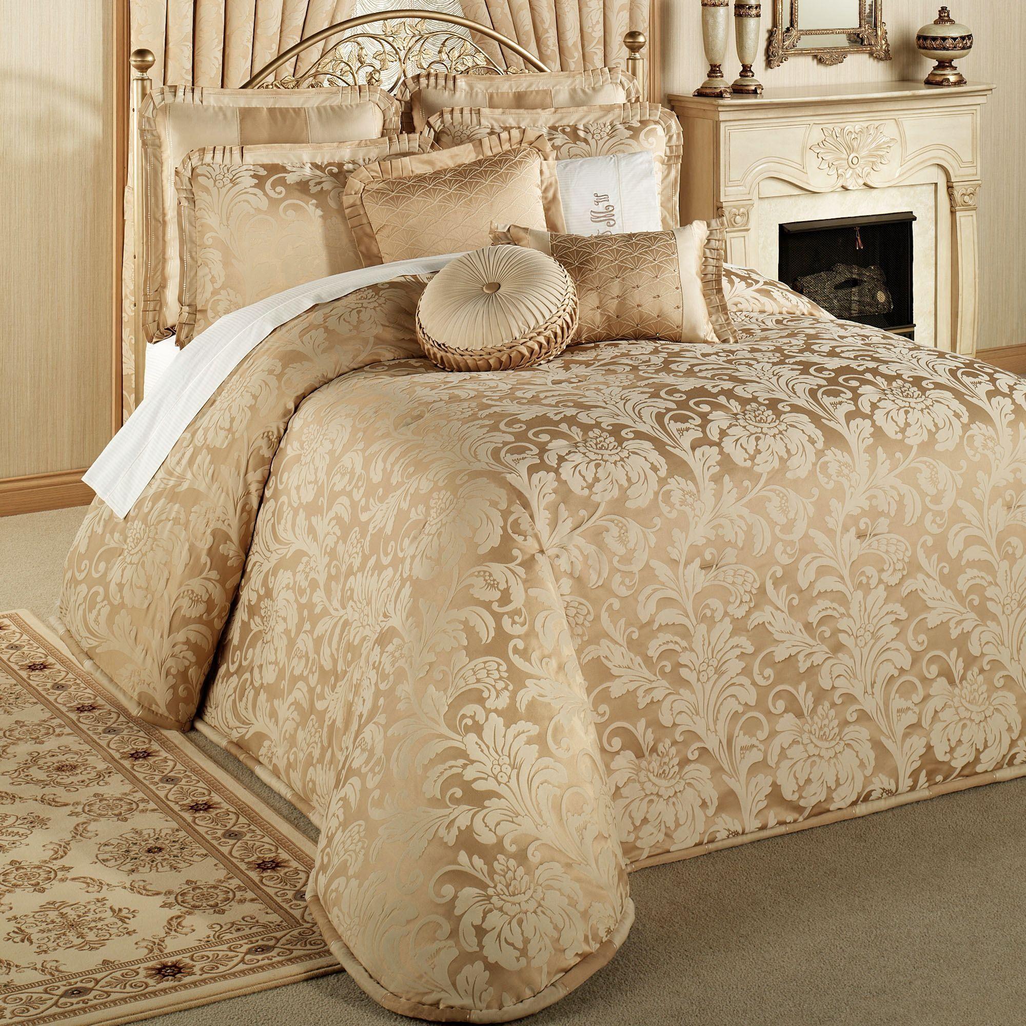 Regent Gold Oversized Bedspread Bedding | Bedspread and King beds : oversized king quilt bedspread - Adamdwight.com